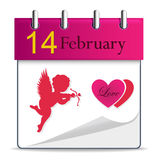 Vector calendar with angel Royalty Free Stock Photo