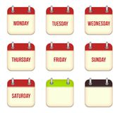 Vector calendar app icons Stock Photo