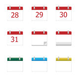 Vector calendar app icons 28  to 31 days Stock Image