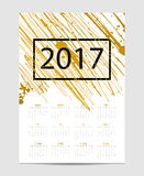 Vector calendar with brush stain. 2017. Year Royalty Free Illustration