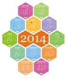 Vector 2014 calendar Stock Images