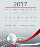 Vector calendar for 2017. Corporate business 2017 vector calendar design. Elements for your work. Eps10 Stock Photo