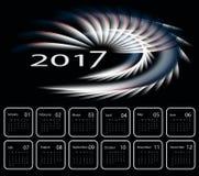 Vector calendar for 2017. 2017 vector dark modern calendar design. Elements for your work. Eps10 Stock Photo