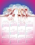 Vector calendar design 2011 on colour background. Stock Photos