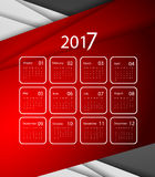 Vector calendar for 2017. 2017 vector calendar design. Colorful corporate background.  Elements for your work. Eps10 Stock Images