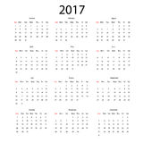 Vector calendar for 2017 Royalty Free Stock Photo