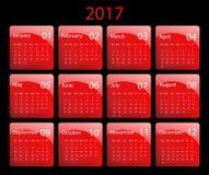 Vector calendar for 2017. 2017 vector calendar design. Elements for your work. Eps10 Stock Photo