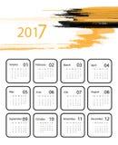 Vector calendar for 2017 Stock Photography
