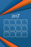 Vector calendar for 2017 Stock Photo
