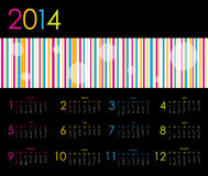 Vector calendar for 2014. With dotted design Royalty Free Stock Photography