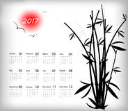 Vector calendar for 2017 Royalty Free Stock Images