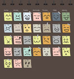 Vector calendar Emotion with note paper Royalty Free Stock Photography
