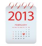 Vector calendar - february 2013. With special design Stock Photos