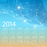 Vector 2014 calendar grid design Royalty Free Stock Images