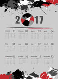 Vector calendar for 2017. Grungy 2017 vector calendar design. Elements for your work. Eps10 Royalty Free Stock Images