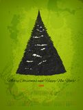 Vector 2014 calendar with hand drawn snowy fir. Tree. RGB color mode Royalty Free Stock Images