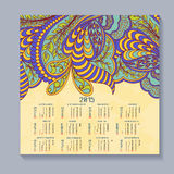 Vector calendar for 2015. Happy New Year. Llustration template design - calendar of 2015 with holidays icons. Calendar paper design, Vector illustration Royalty Free Stock Photography