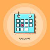 Vector Calendar Icon Royalty Free Stock Photo