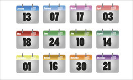 Vector calendar icon Stock Images