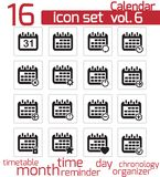 Vector Calendar Icons Stock Images