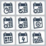 Vector calendar icons set Stock Image