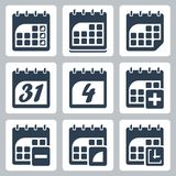 Vector calendar icons set Stock Photos