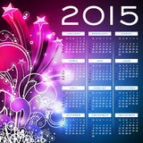 Vector Calendar 2015 illustration on abstract color background. Stock Photography
