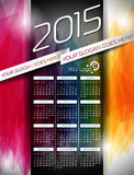 Vector Calendar 2015 illustration on abstract color background. Stock Image