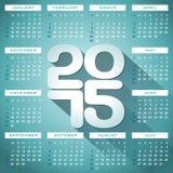 Vector Calendar 2015 illustration with long shadow on black background. Vector Calendar 2015 illustration with long shadow on blue background vector illustration