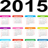 Vector calendar Stock Images