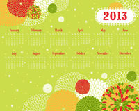 Vector calendar for 2013. Stock Image