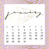 Vector calendar for January 2018. Royalty Free Stock Images
