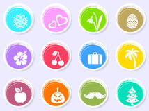 Vector calendar labels with month symbols Stock Images
