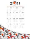 Vector calendar for 2017. Modern 2017 vector calendar design. Elements for your work. Eps10 Stock Photography