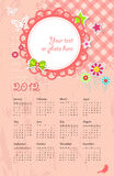 Vector calendar with place for photo Stock Photography
