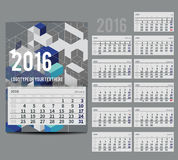 Vector calendar 2016 - Planner for  month Royalty Free Stock Photos