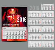 Vector calendar 2016 - Planner for  month Royalty Free Stock Photography