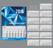 Vector calendar 2016 - Planner for  month Royalty Free Stock Photo