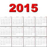 Vector calendar for 2015 Stock Images