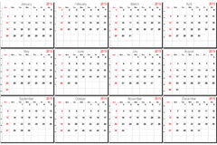 Vector calendar for 2015. Vector calendar planner schedule 2015 week starts with sunday Royalty Free Stock Photography