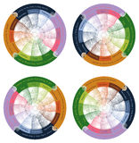 Vector Calendar 2014. Vector Calendar for 2014 is rainbow looking, esoteric and psychedelic Stock Illustration