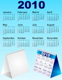 Vector calendar set. Blue vector calendar desktop set royalty free illustration