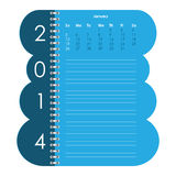 Vector calendar for 2014 Stock Photography