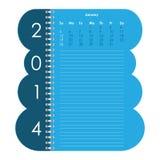 Vector calendar for 2014 Stock Photography