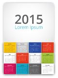 Vector 2015 calendar. Squares style template Royalty Free Stock Photos