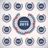 Vector calendar 2015 template Royalty Free Stock Photography