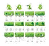 Vector calendar for 2018 royalty free stock photo
