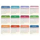 Vector calendar 2014. Vector EPS 10 Stock Photos