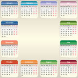 Vector calendar 2014. Vector EPS 10 Royalty Free Stock Photo