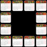 Vector calendar 2014. Vector EPS 10. Style khokhlo Royalty Free Stock Photos